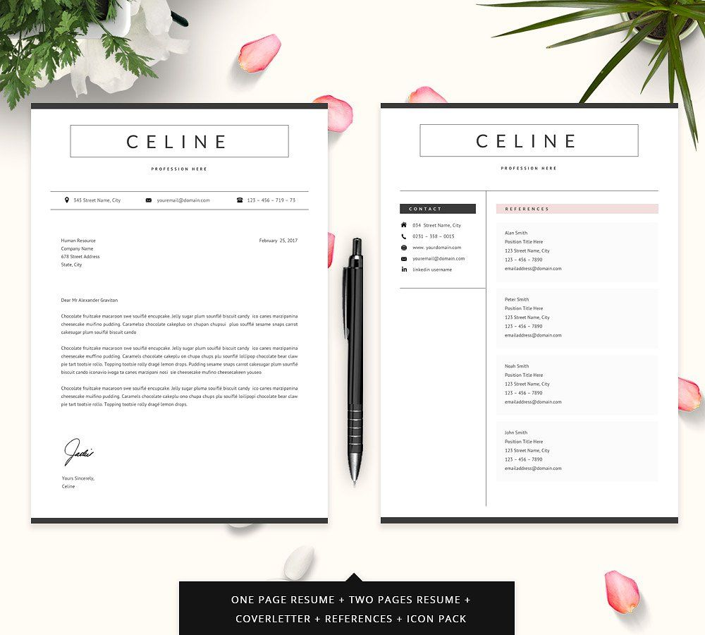 Professional Resume / CV Template originalcolorscreate