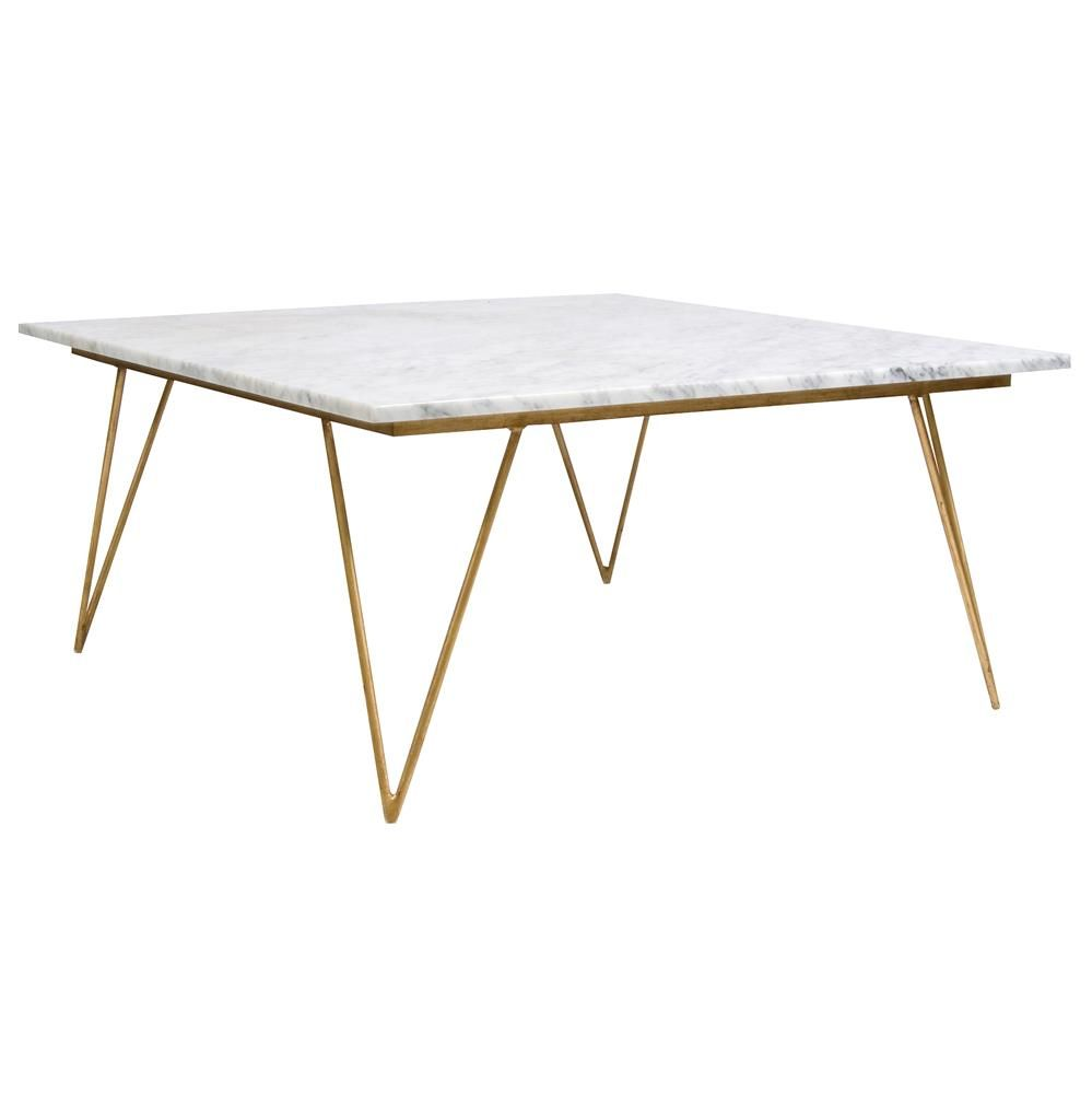 Piazza Hollywood Regency White Marble Gold Coffee Table Kathy Kuo Home