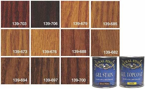 General Finishes Gel Stains And Topcoat is available in ...