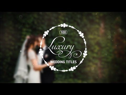 Wedding Titles After Effects Templates - Free download