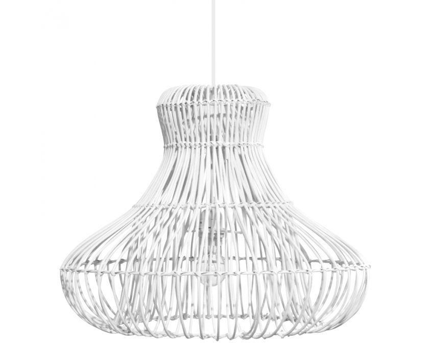 Lamp hanging wide rattan white homeware weylandts south africa