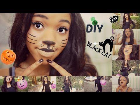 DIY Halloween CAT Costume!!!!!!!! - YouTube halloween Pinterest - cute cat halloween costume ideas