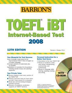 Free download Barron's TOEFL iBT 12th Edition (ebook, audio, CD room