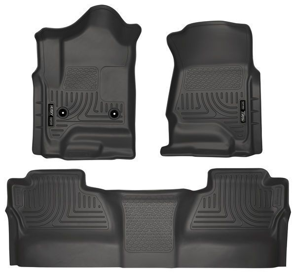 Same Business Day Shipping Husky Liners 13 17 Gm 1500 14 17 Gm 2500 3500 Weatherbeater Combo Black 98231 Husky Liners Floor Liners Silverado Crew Cab