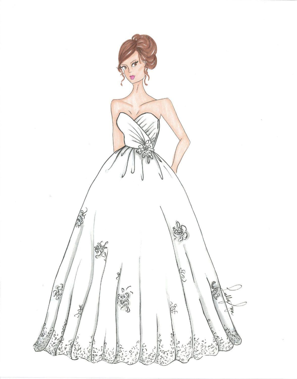 Custom Bridal  Quinceaera Illustration by SullyAnnIllustration