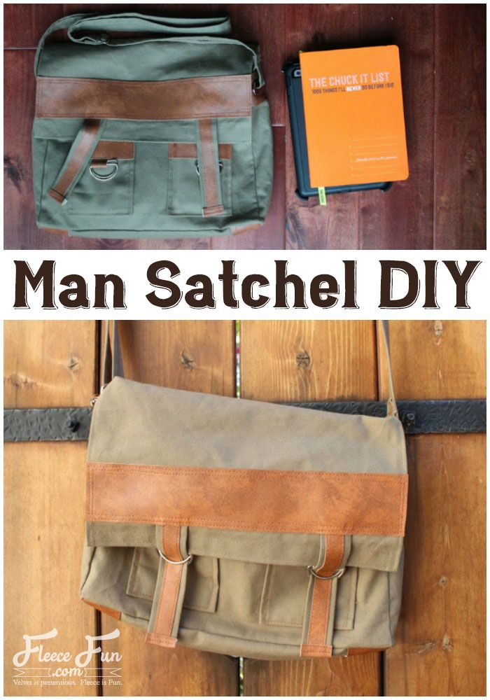 f551b9562c8c I love this How to make a Man Satchel DIY tutorial. It s the perfect  handmade gift idea for this guy I know. I love all the faux leather trim  too.