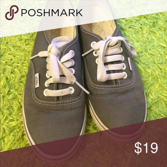 Grey Vans Size woman's 8 Vans Shoes Sneakers