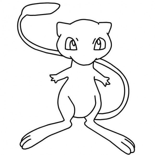 Mew Coloriage Pokemon Dessin Pokemon Coloriage Pokemon A Imprimer