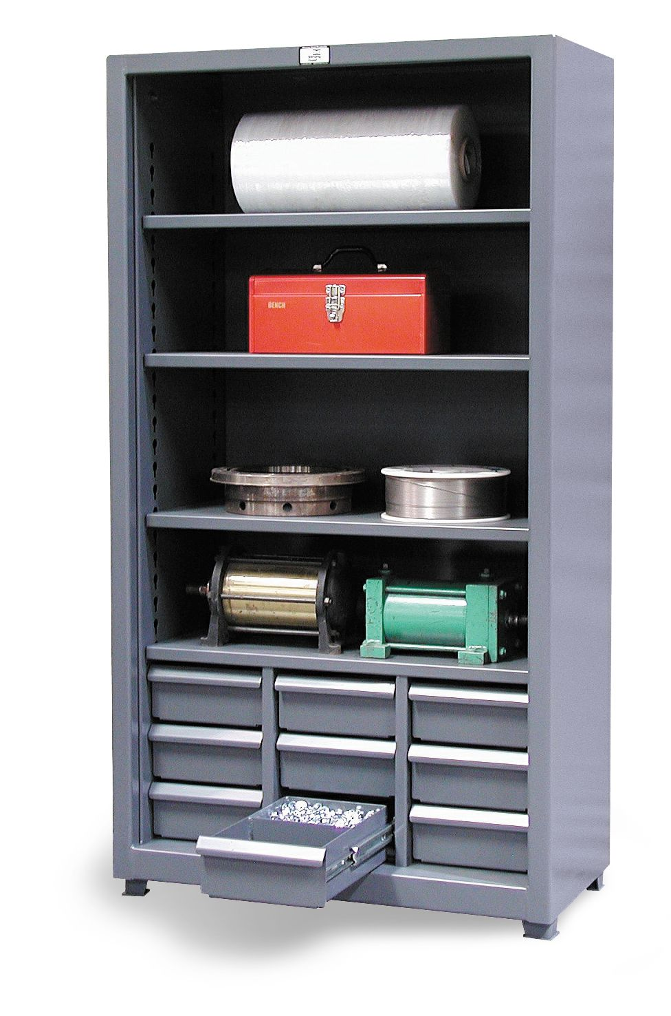 Combination Open Drawer Storage This Combination Shelving Unit And Drawer Cabinet It Has 4