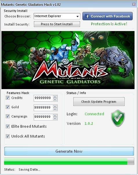 Mutant Genetic Gladiators Cheat Engine Online  Mutant