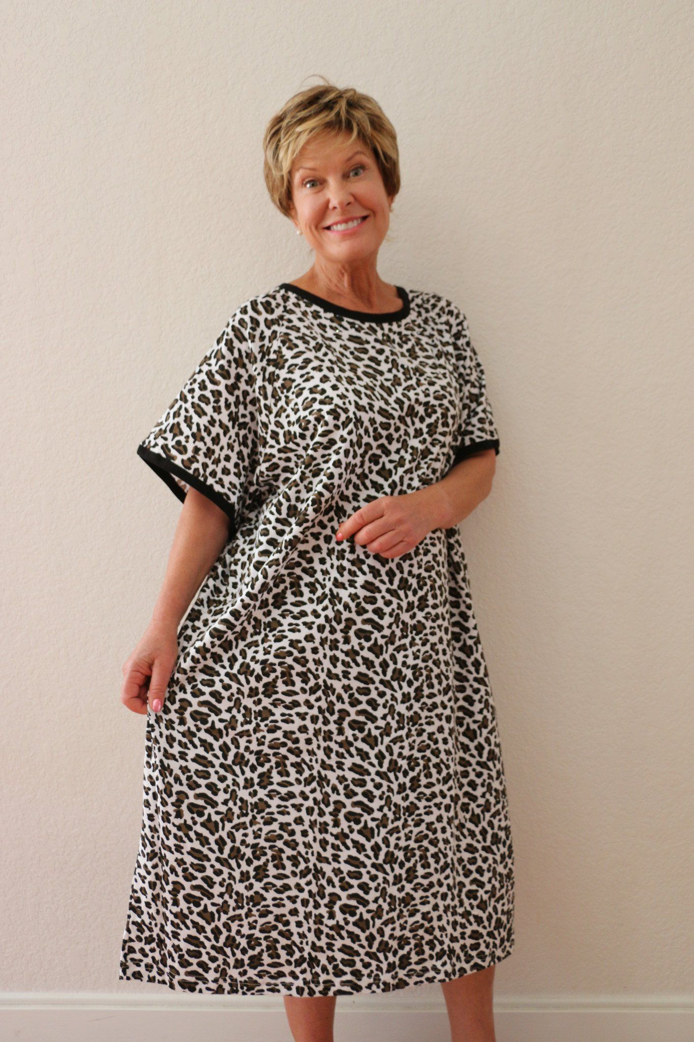 Animal Print Left Side IV Hospital Gown | Products