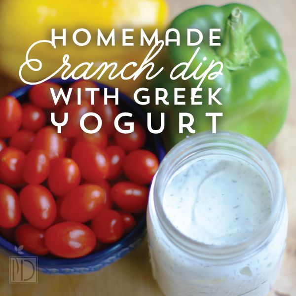This is a quick and easy recipe for Yummy Homemade Ranch Dip with greek yogurt