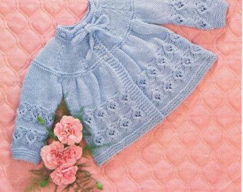 5302da07b49b Baby KNITTING PATTERN - Matinee Coat