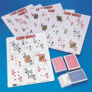 Larger Image For Playing Card Bingo Game With Images Bingo