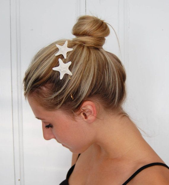 Miniature Starfish Hair  Bobby PinsBeachy by theriveriseverywhere, $13.00  YES!!!  THERE SMALLER!!