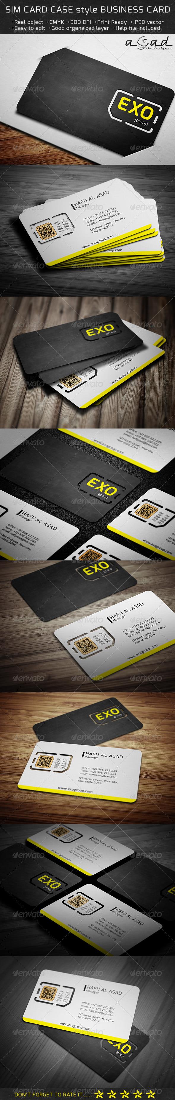 Sim Case Business Card Template SN-8 | Pinterest | Business cards ...