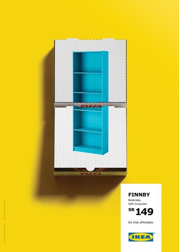 the print ad titled bookcase was done by memac ogilvy mather dubai advertising agency for - Ogilvy Mather Ad Agency