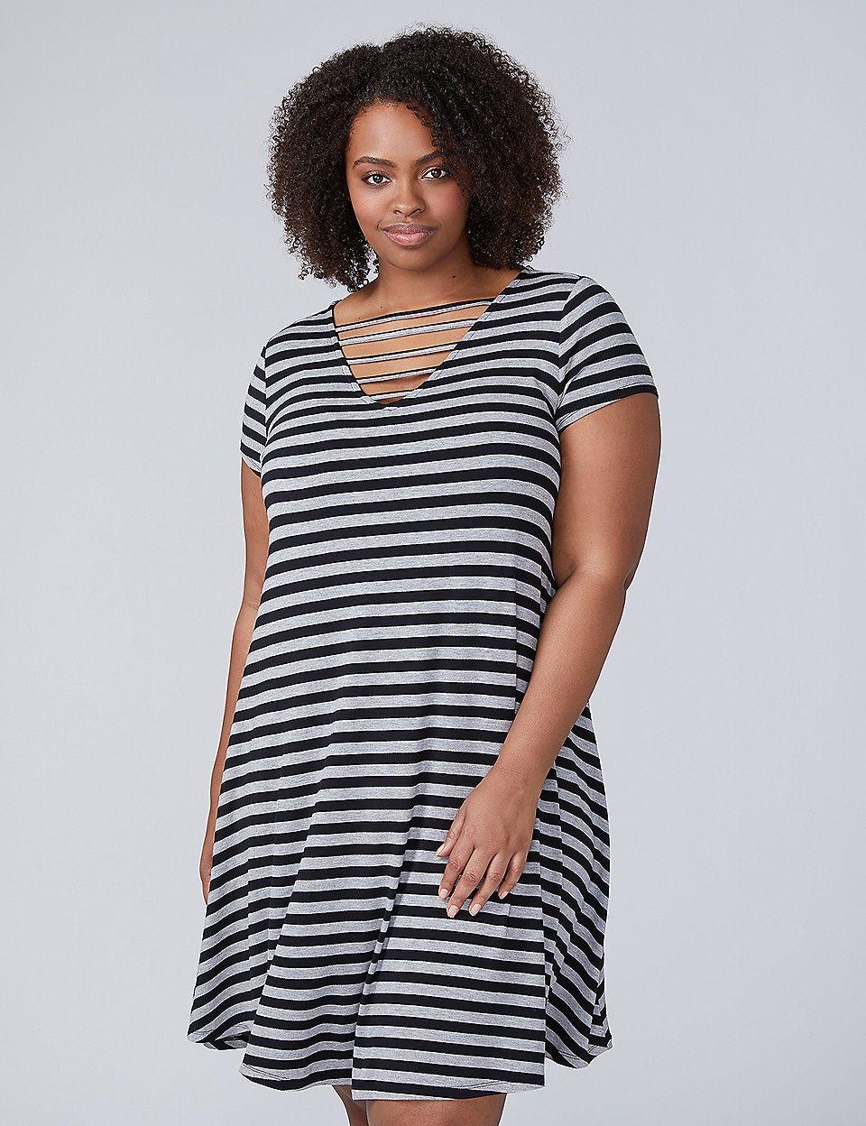 bcd0fed5e4 Horizontal Caged T-Shirt Dress