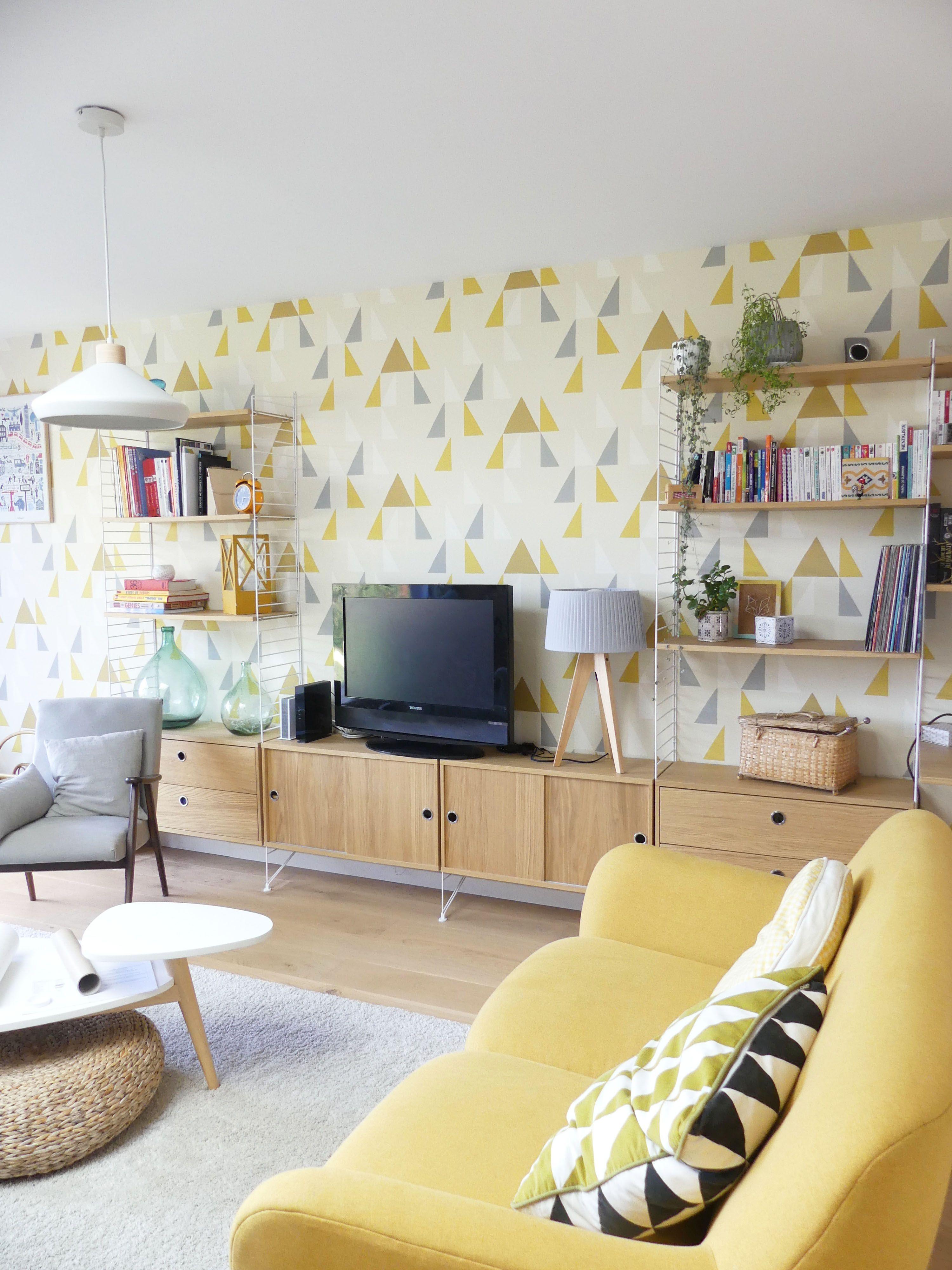 Décoration salon scandinave cocooning, ambiance vintage et moderne