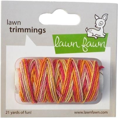 Lawn Fawn Hemp Cord, Pink Lemonade is part of lawn Fawn Pink Lemonade - This cute hemp cord is scrapbook safe, biodegradable, and fun to use! This summery variegated single pack contains 21 yards
