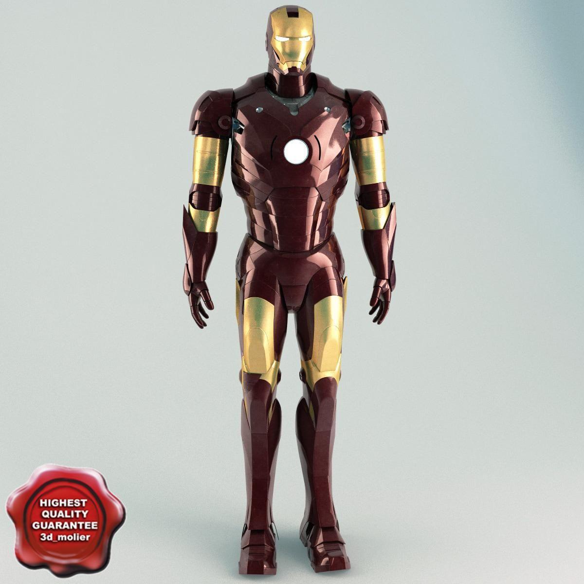 Iron Man Static 3d Model Ad Man Iron Model Static