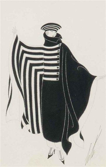 'Le manteau' - A fashion design - Erté