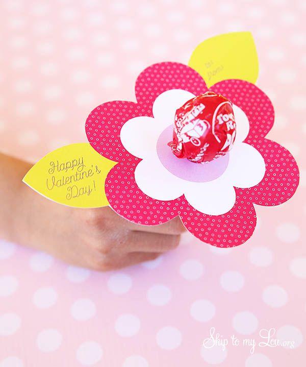 Lollipop Flower Valentine Printable ~VALENTINES DAY- Valentines