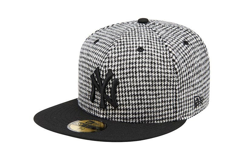 New Era Houndstooth New York Yankees Black White 59Fifty Limited Snapback  Hat  NewEra  BaseballCap  NewYorkYankess a23d85d30719