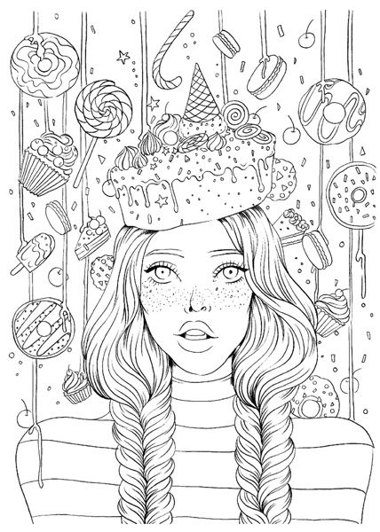Prima Princess Sweet Tooth Stamps Detailed Coloring Pages Unicorn Coloring Pages People Coloring Pages