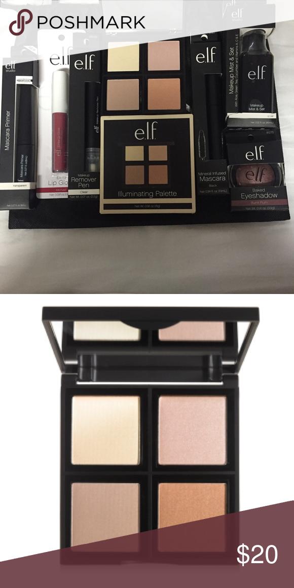 7 ELF items new unused NWT Makeup remover pen, Mascara