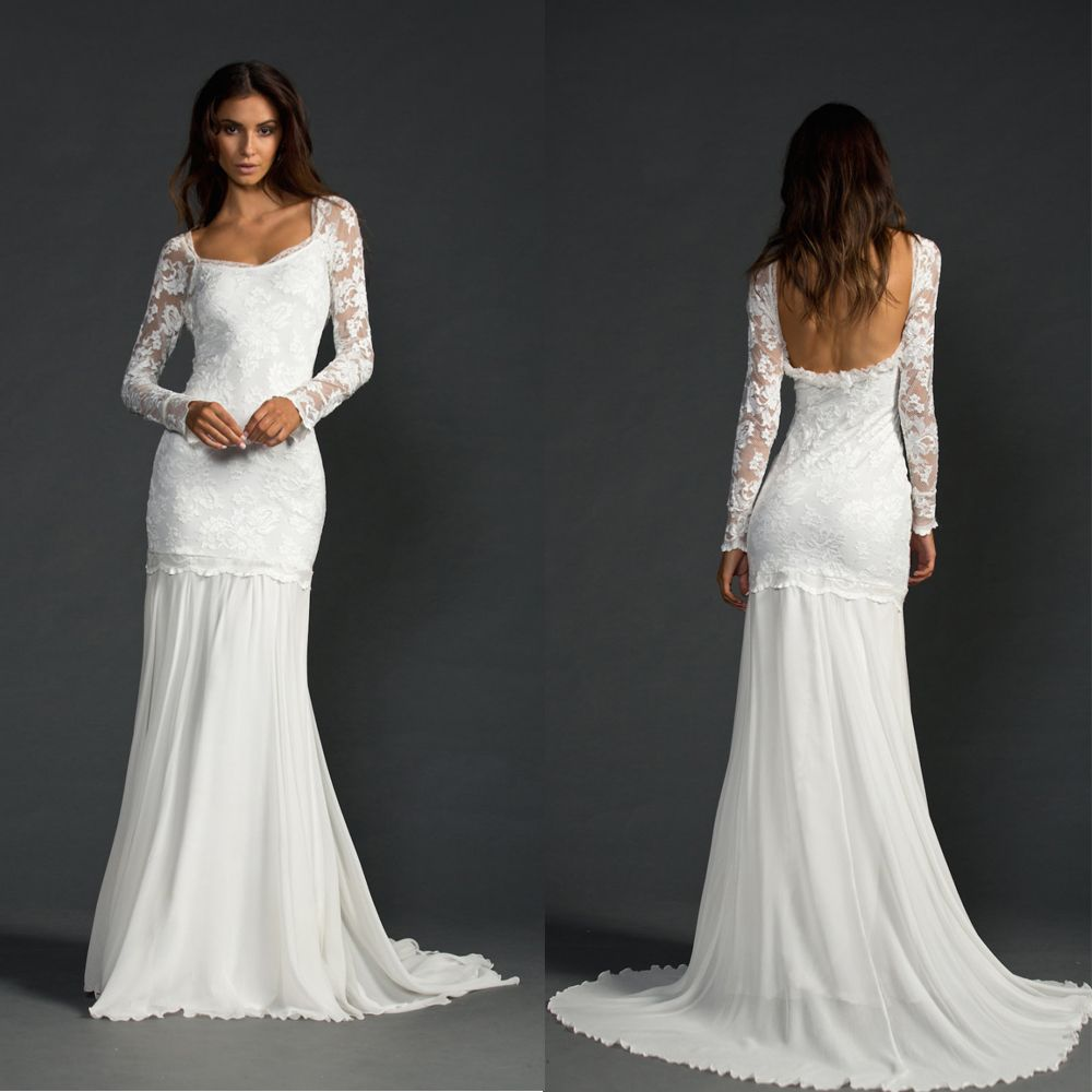 Find more wedding dresses information about pb chiffon long sleeve