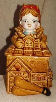 Alice In Wonderland Collector Cookie Jar