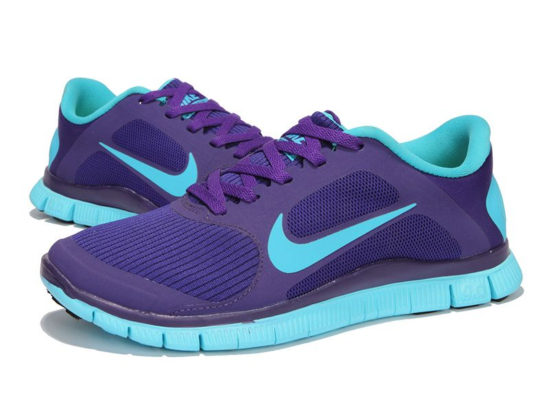 womens electro purple gamma blue nike free 4.0 v3 running shoes womens fashion sneakers for summer 2