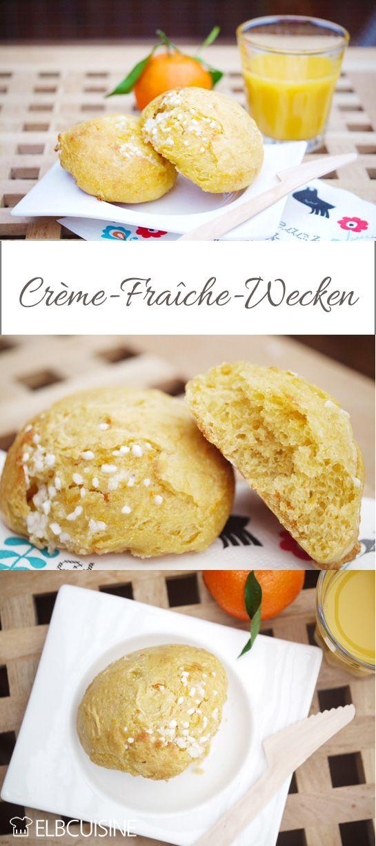 Locker leichte Crème-Fraîche Wecken mit Möhren.
