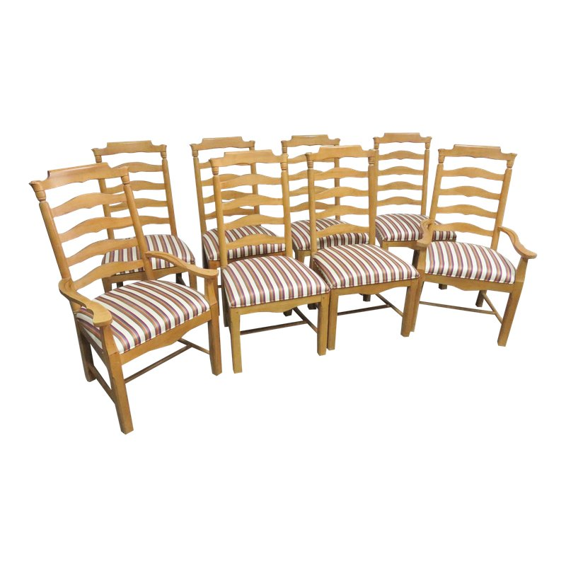 Country Style Ladderback Dining Chairs