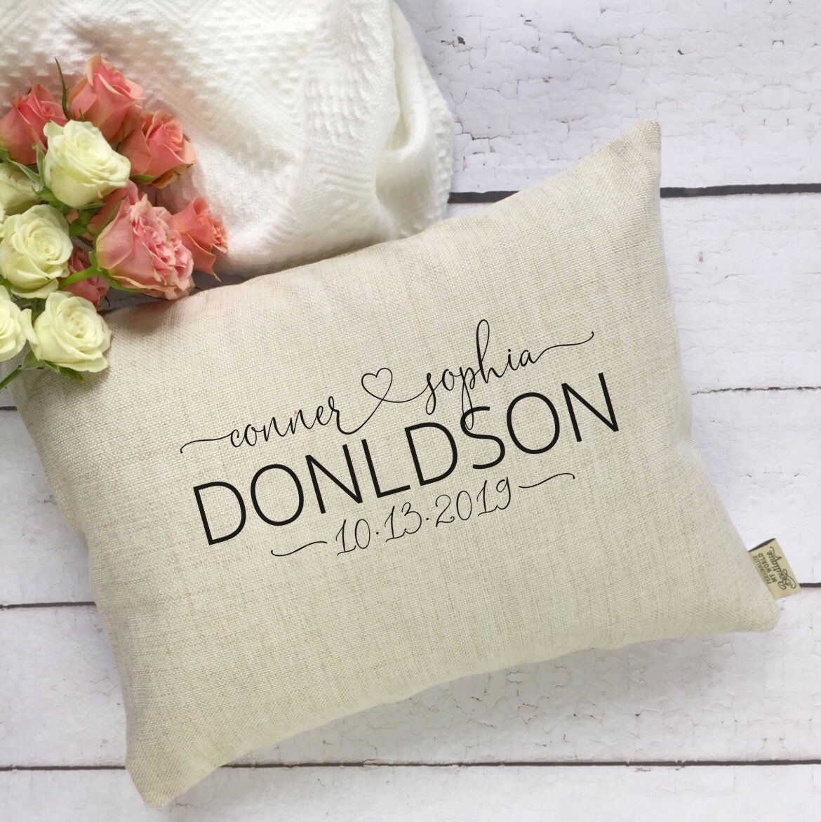 Mr and Mrs Pillow Cover Wedding Day