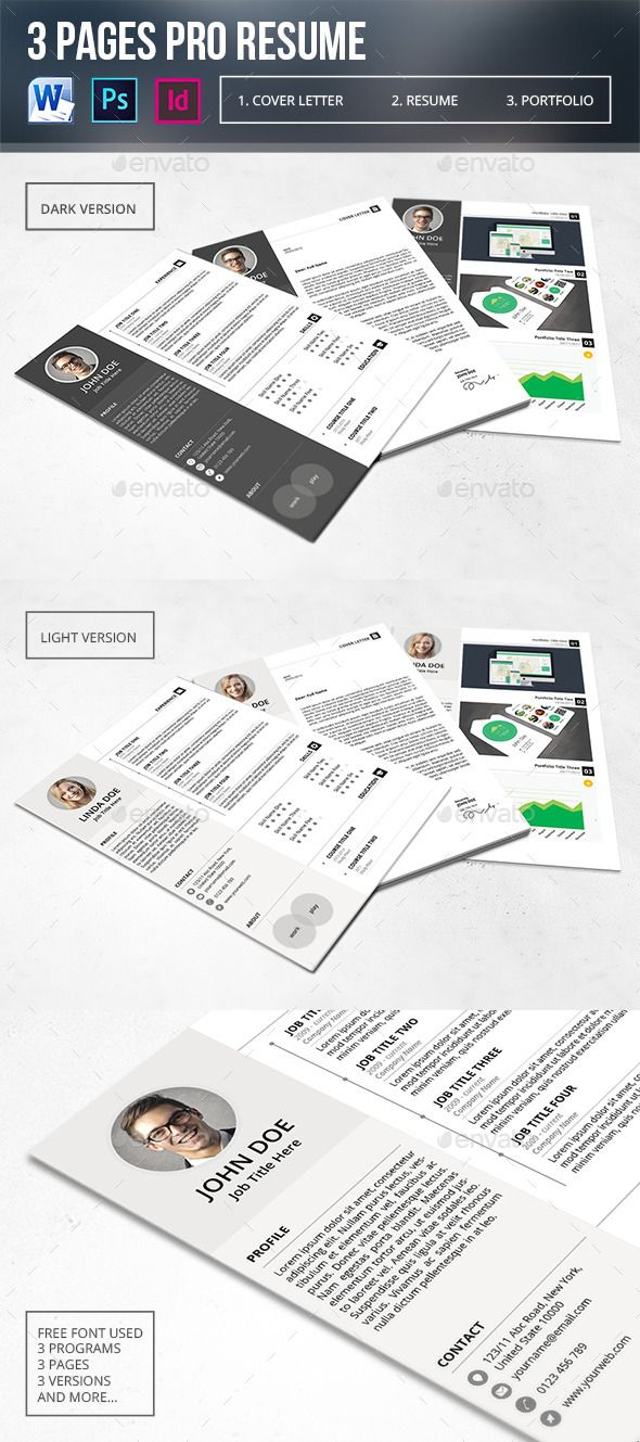 Pages Pro Resume  Resume Cv Template And Simple Resume Template