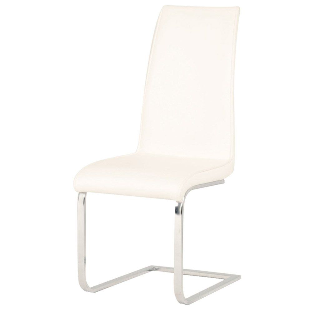 Zuri Furniture Paros Synthetic Leather Dining Chair Set Of 2 White