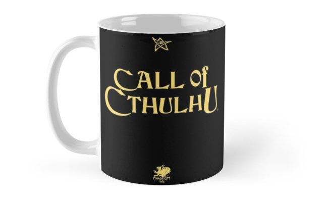 CALL OF CTHULHU - Logo (gold with elder sign & chaosium) Mugs