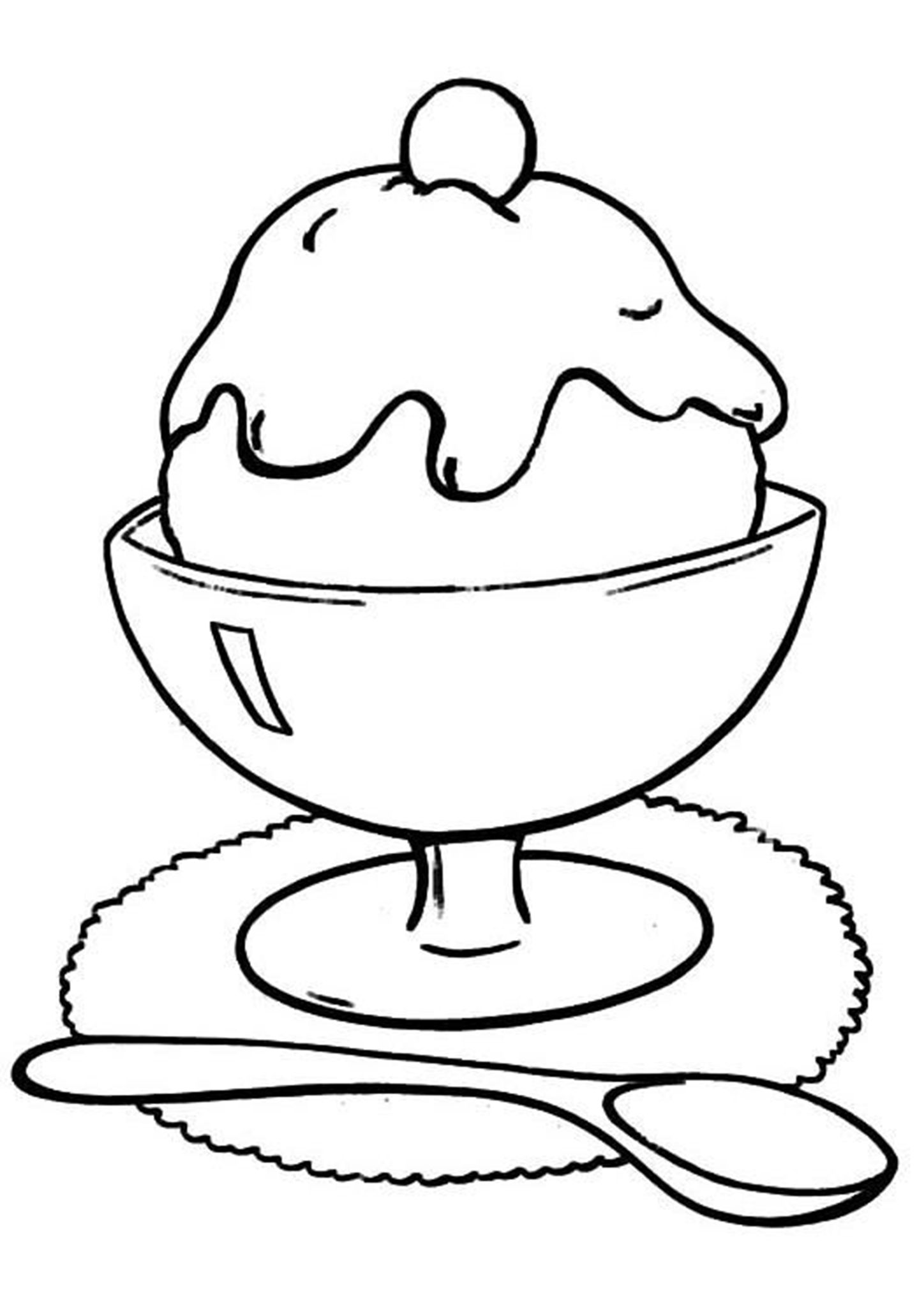Free Amp Easy To Print Ice Cream Coloring Pages In