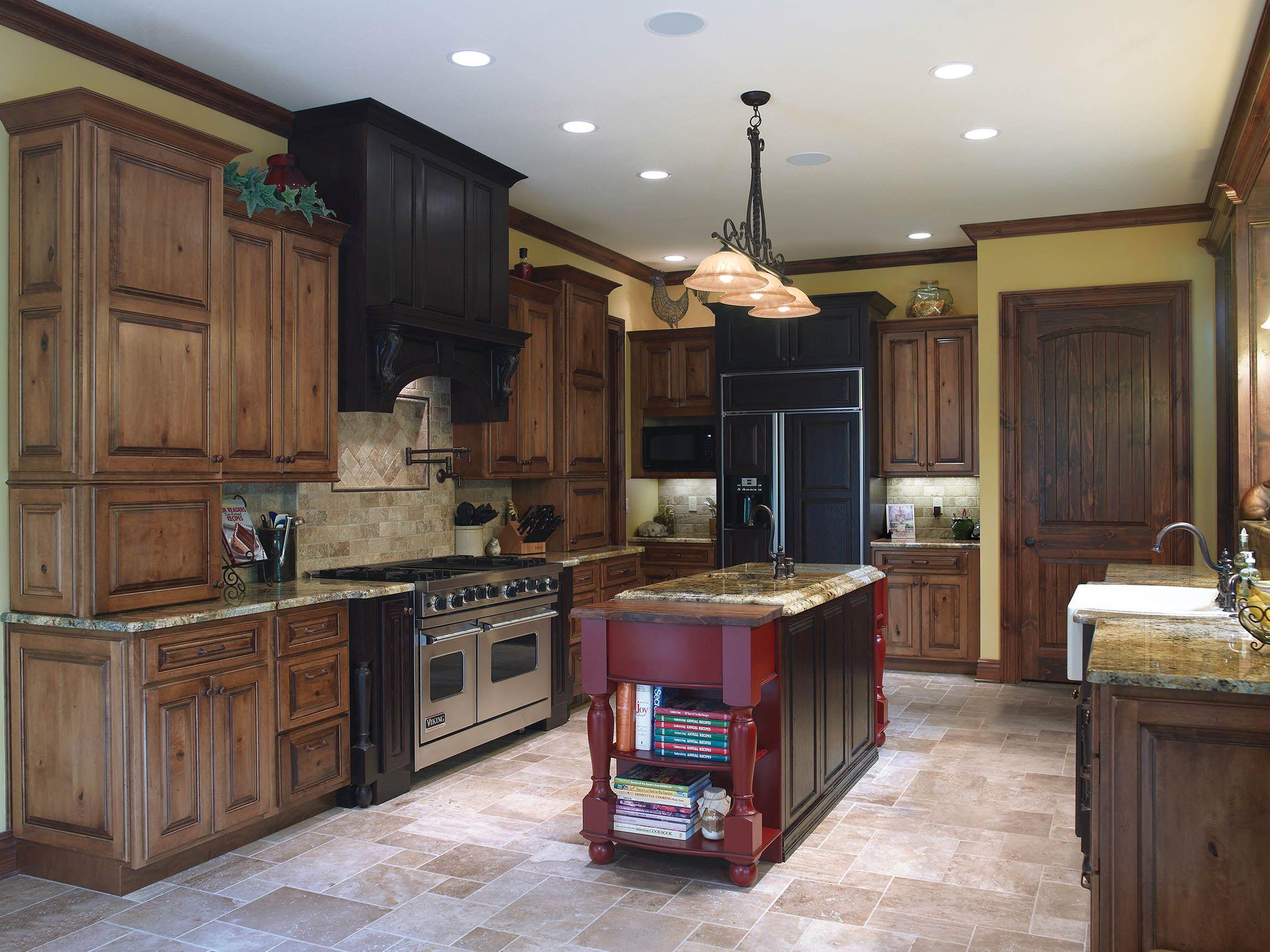 Acorn On Rustic Maple Standard Overlay Using Oxford Raised Door On Custom Semi Custom Black Kitchen Decor Contemporary Kitchen Cabinets Kitchen Design Decor