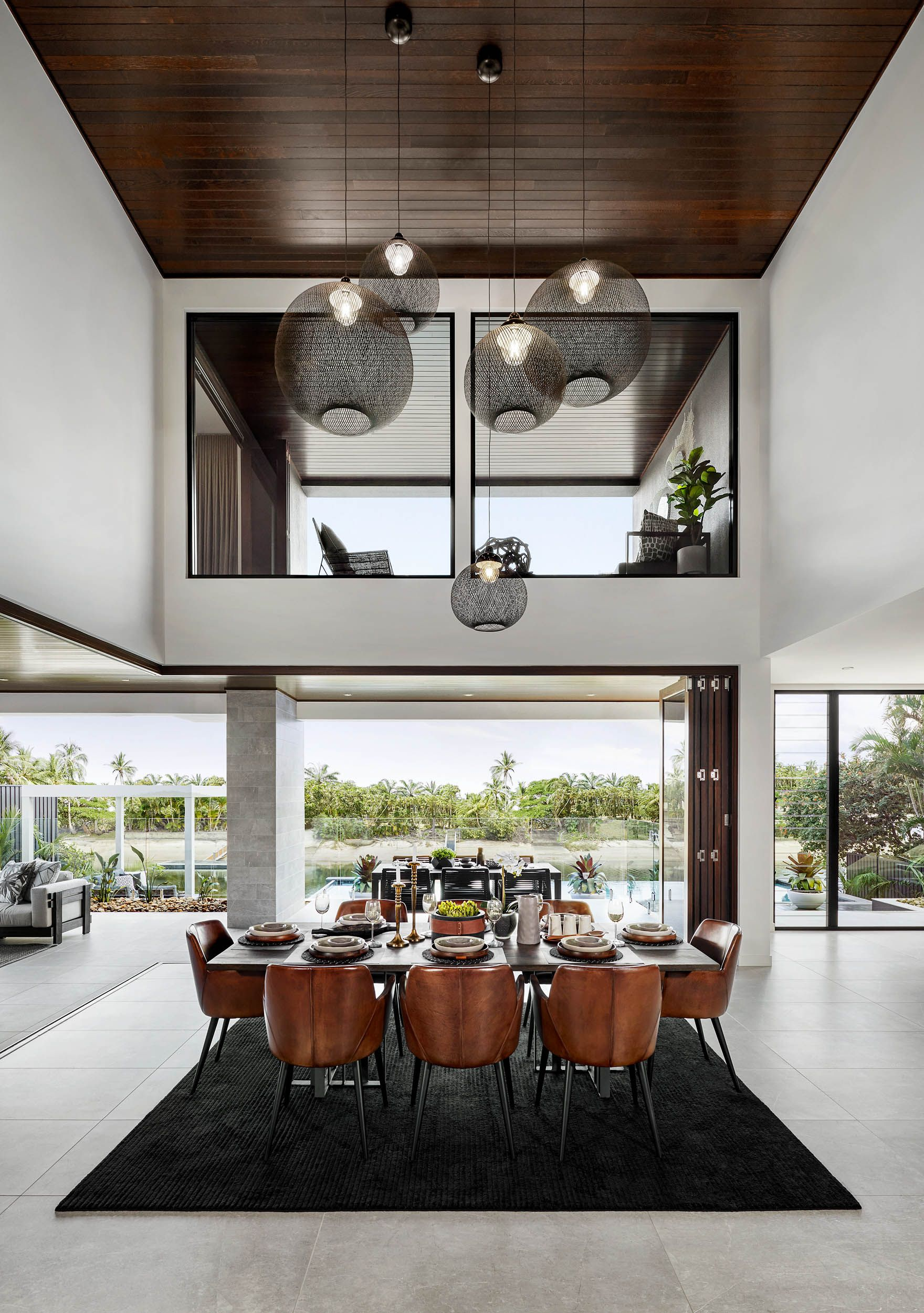 Dining Void The Signature By Metricon Riviera On Display In Sorrento Qld Contemporary House Home Interior Design Dining Room Design