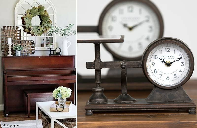 kitchen counter clocks vintage retro our scale clock is an industrial that looks great in any space place this decorative on your mantle or kitchen counter area petite hardware scale clock 2018 decor steals favorites