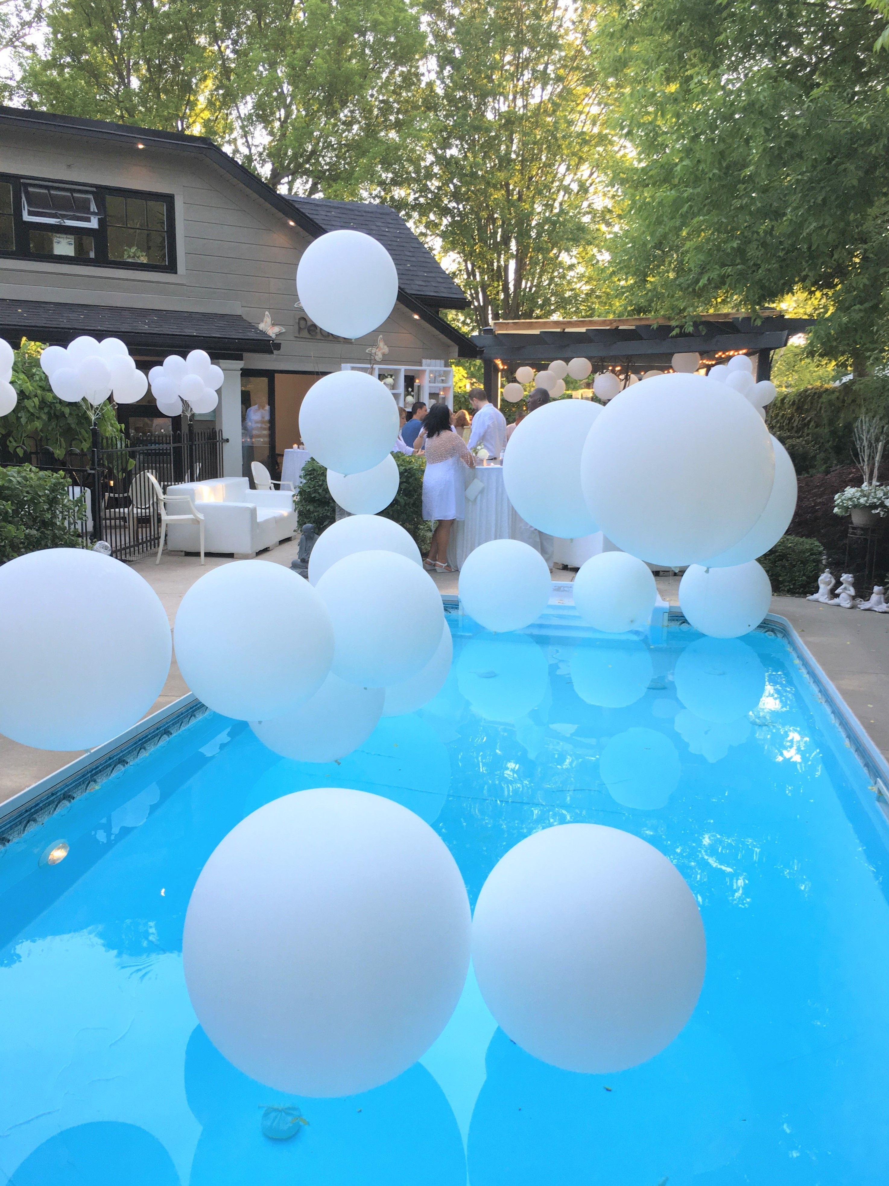 All White Backyard Birthday Party Toronto ON