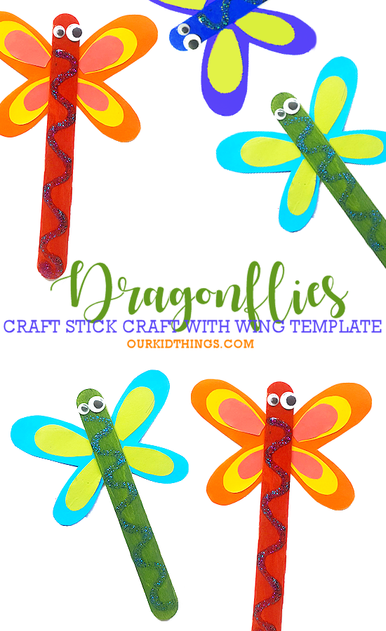 Craft Stick Dragonflies