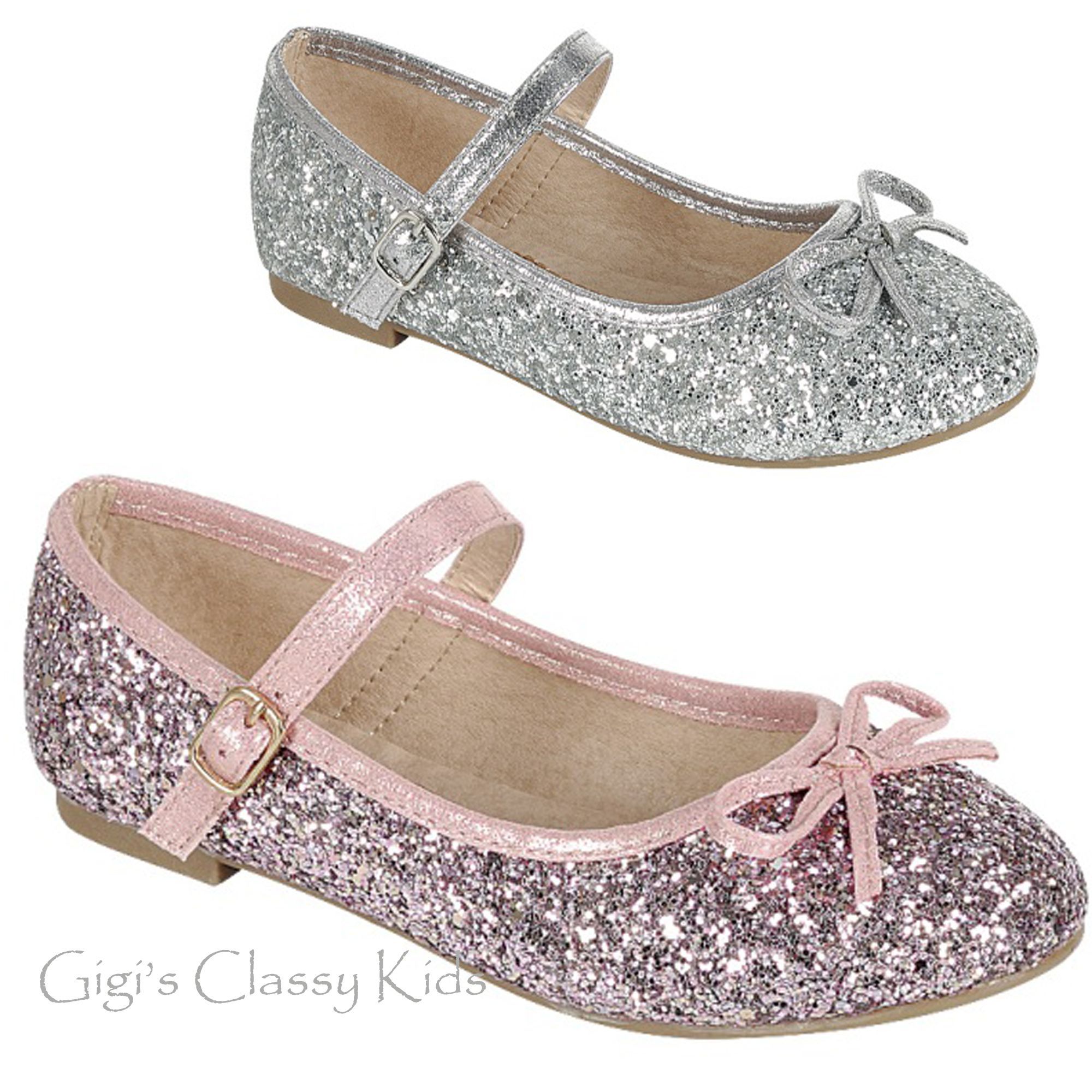 silver flat shoes for girls
