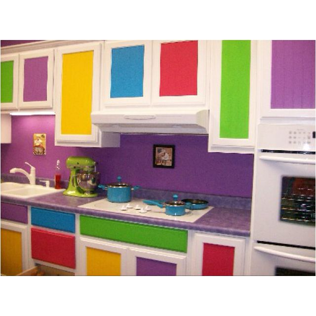 Rainbow kitchen Cultivateit home ideas Pinterest Rainbow