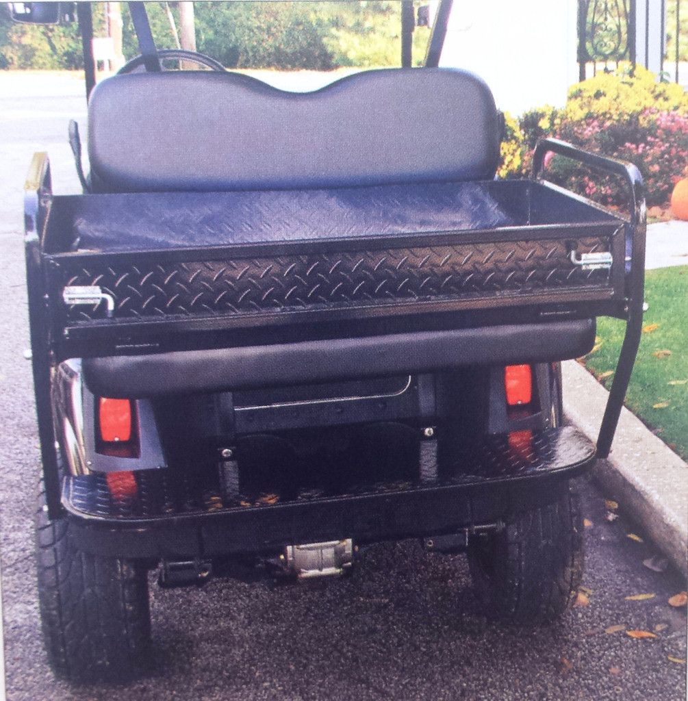 Club Car DS Golf Cart Rear Flip Seat Cargo Box Kits With Struts