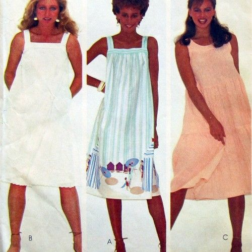 McCall's Sundress Patterns For Women 40s Easy Sleeveless Tank Unique Sundress Sewing Pattern