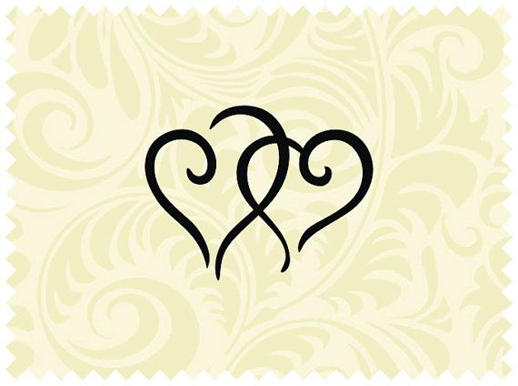 Download SVG Heart Clipart Design Two Hearts SVG Cricut Two Hearts ...